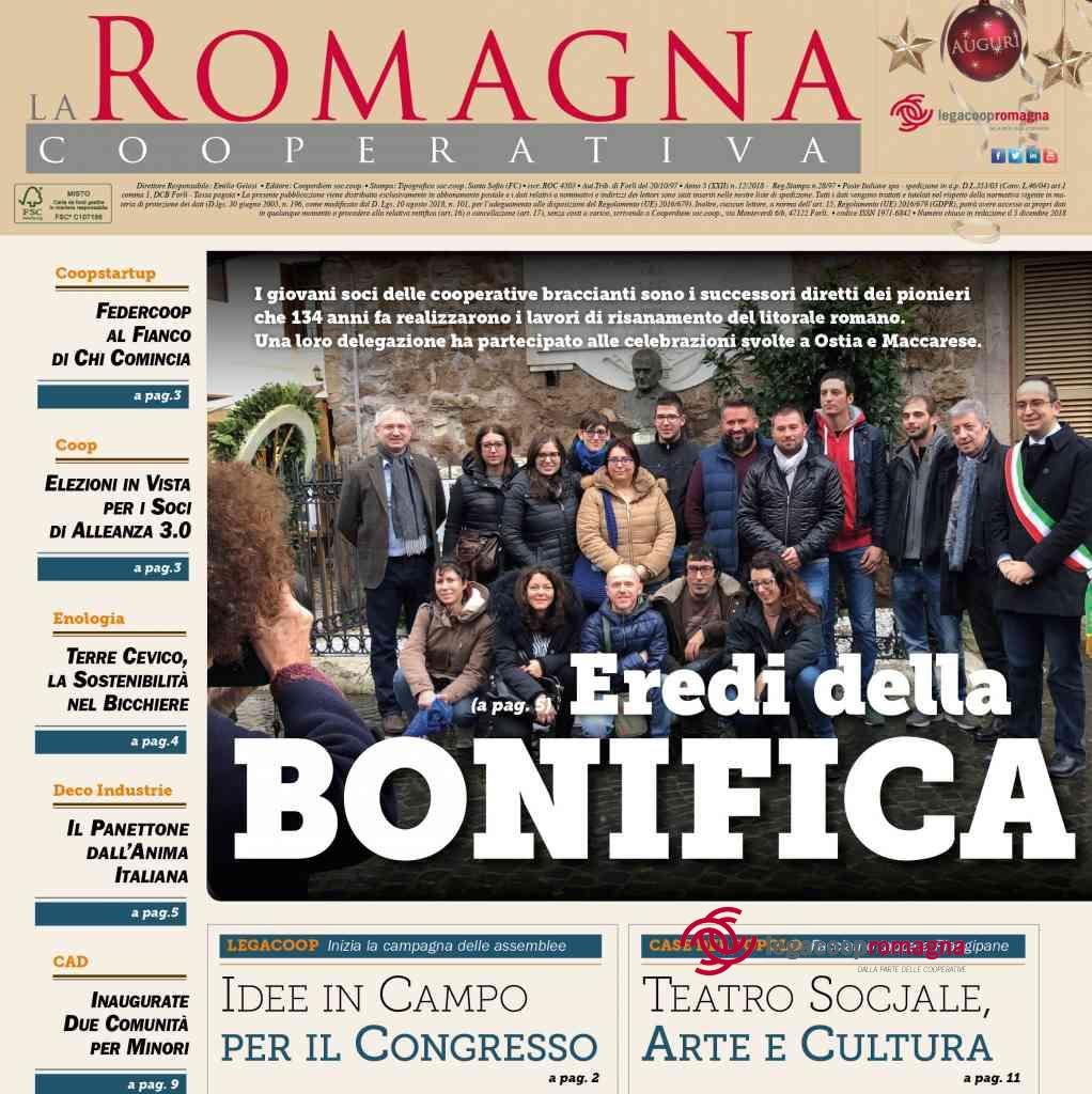«Eredi della bonifica» – il nuovo numero della Romagna Cooperativa [12/2018]