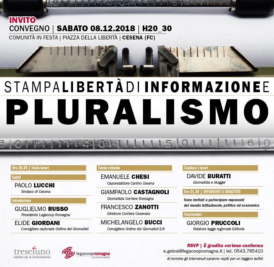 Stampa, libertà di informazione e pluralismo – sabato 8/12 a Cesena