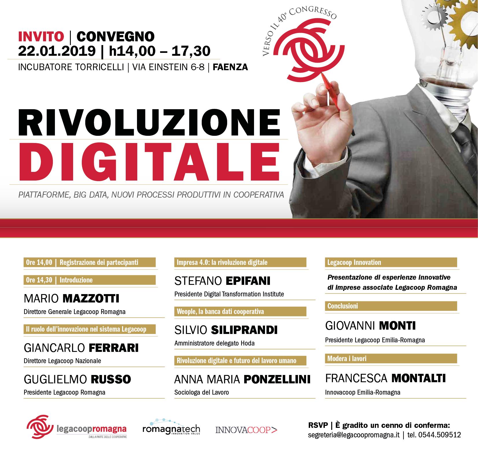 Rivoluzione digitale – seminario sull'innovazione il 22/1 a Faenza