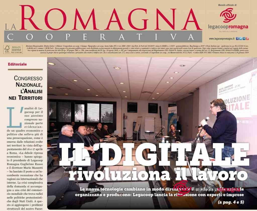 Il Digitale rivoluziona il Lavoro – La Romagna Cooperativa 1/2019