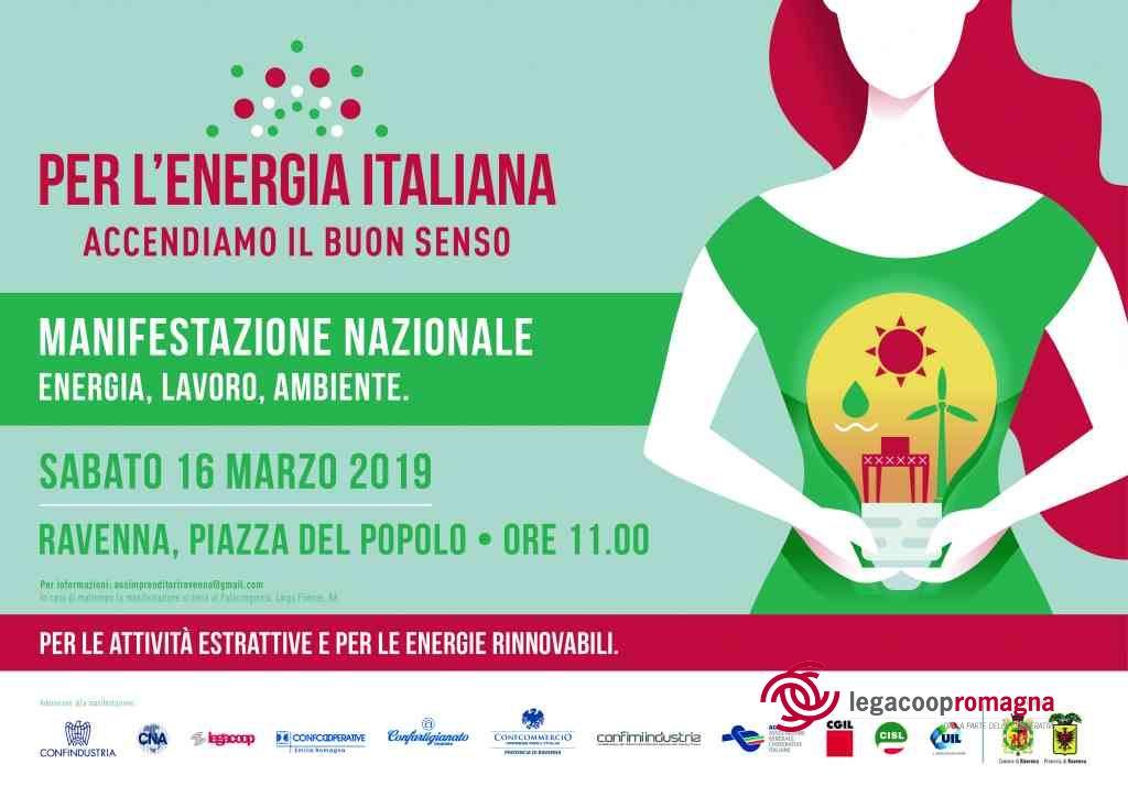 Per l'energia italiana, il 16/3 manifestazione a Ravenna