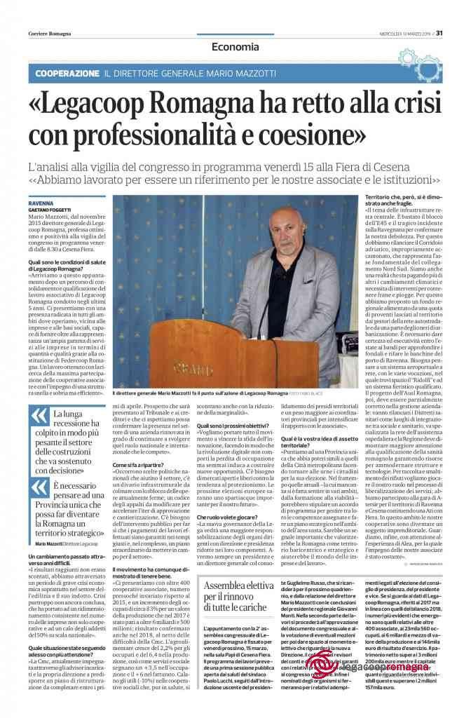 Mario Mazzotti intervistato dal Corriere Romagna Economia