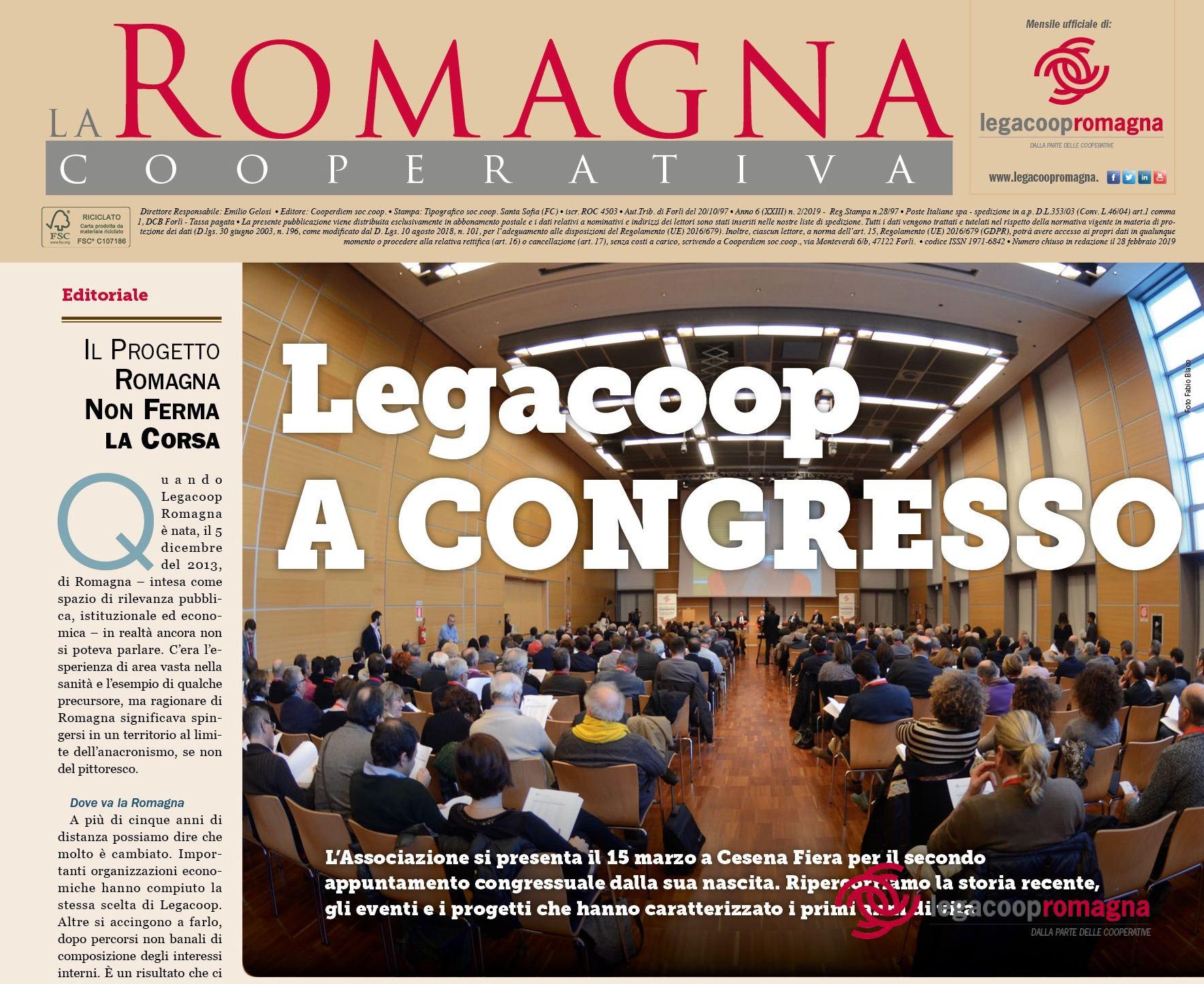 Legacoop a congresso – il nuovo numero della Romagna Cooperativa (2/2019)