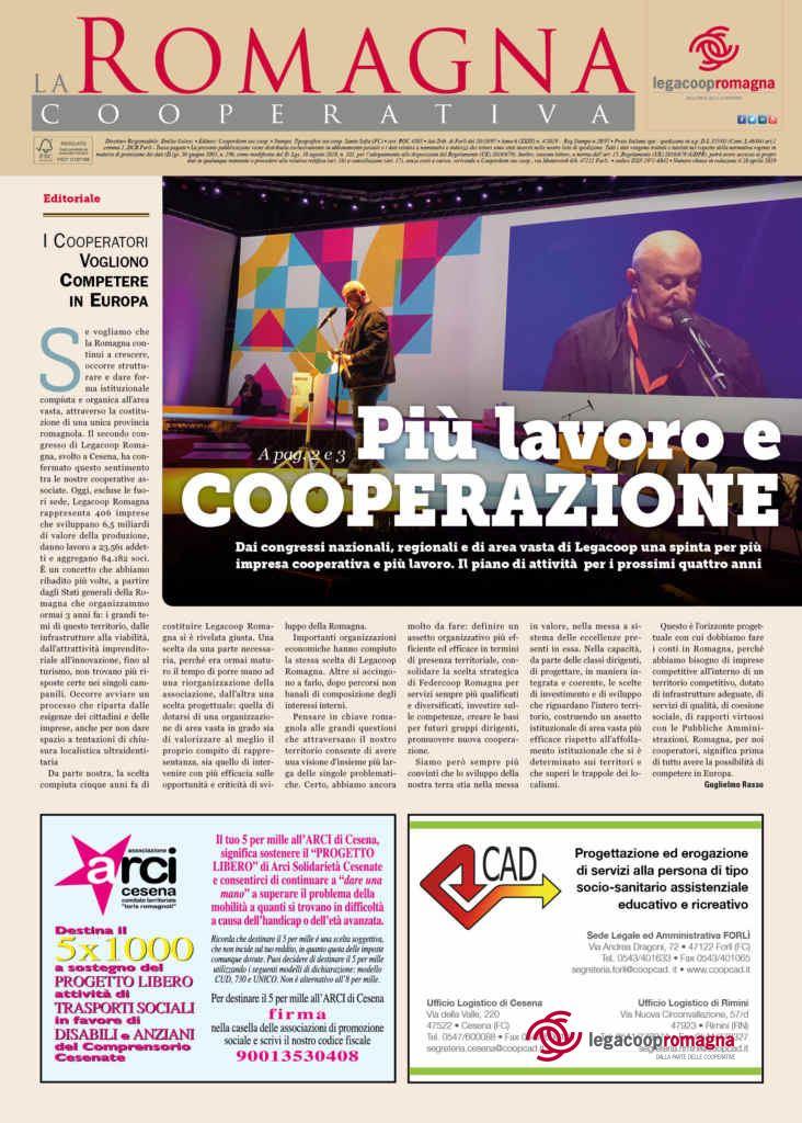 Più lavoro e cooperazione – La Romagna Cooperativa n.4/2019