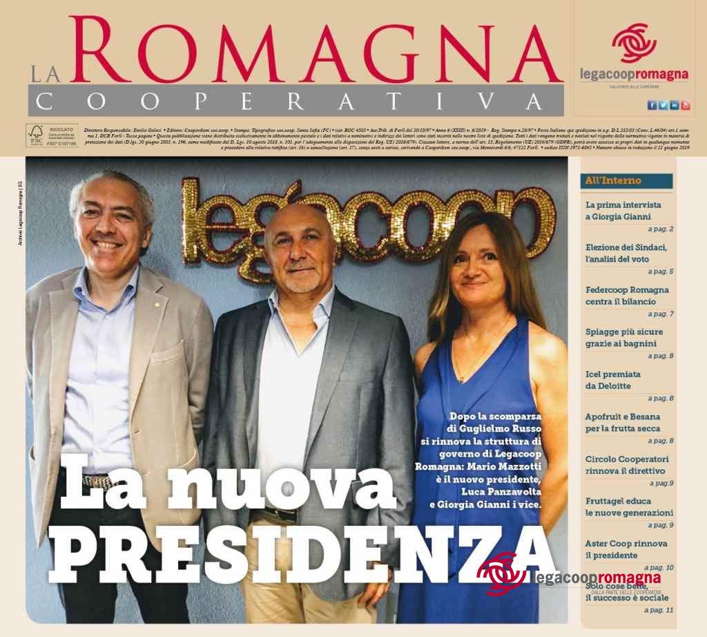 La nuova presidenza – il n.6/2019 della Romagna Cooperativa