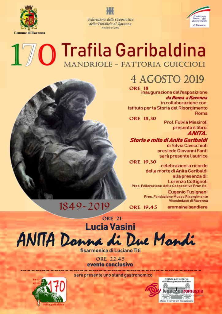 Domenica 4 agosto a Mandriole si commemora Anita Garibaldi