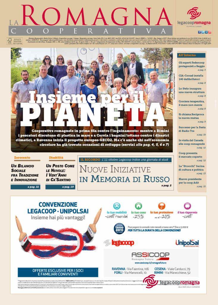 «Insieme per il pianeta» – il nuovo numero della Romagna Cooperativa in anteprima [7-8/2019][pdf]