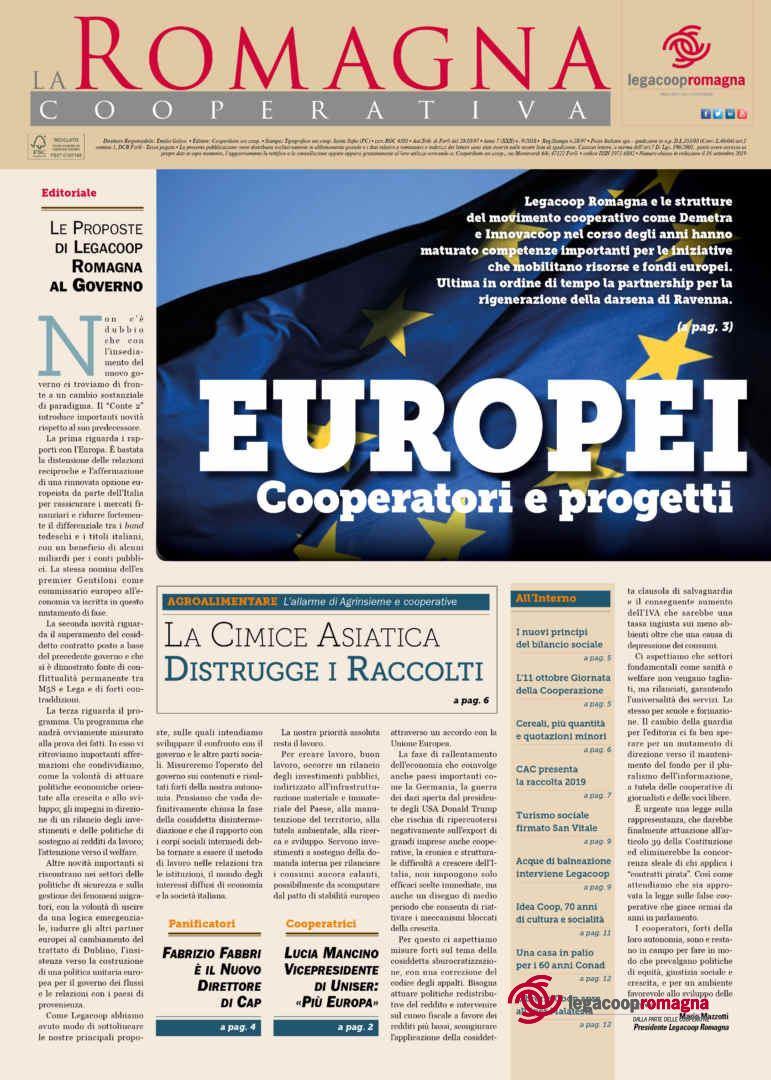 Europei: cooperatori e progetti. Il nuovo numero della Romagna Cooperativa [9/2019]