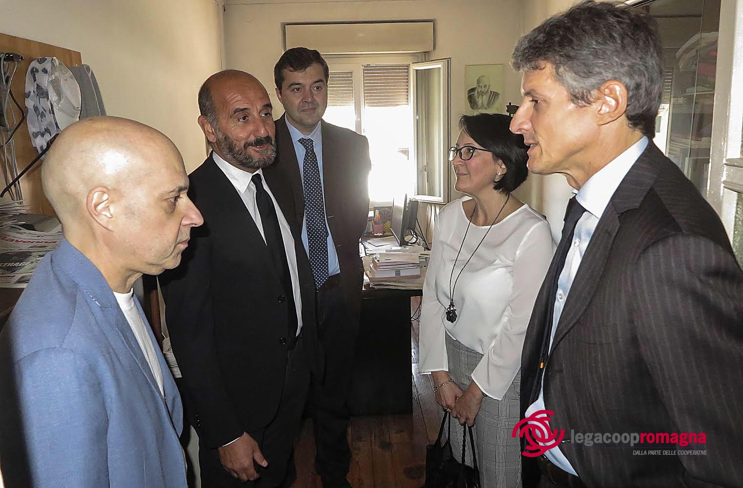 Il sottosegretario all'editoria Martella in visita al Corriere Romagna