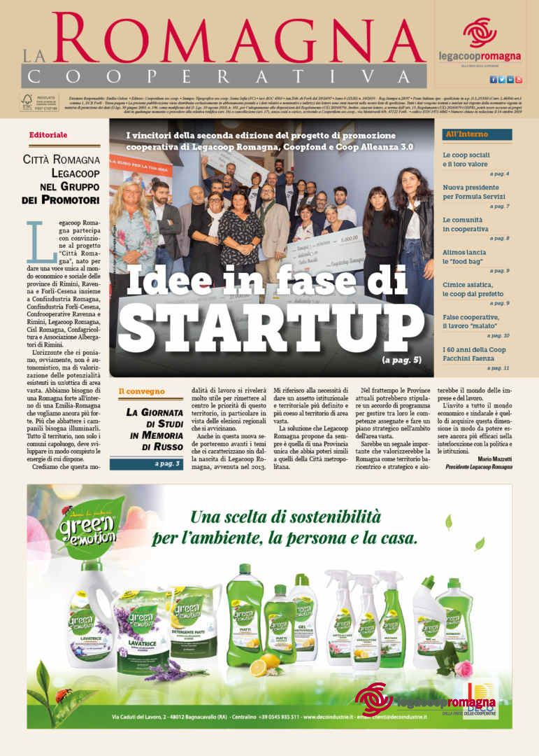 Idee in fase di Startup – il n.10/2019 della Romagna Cooperativa
