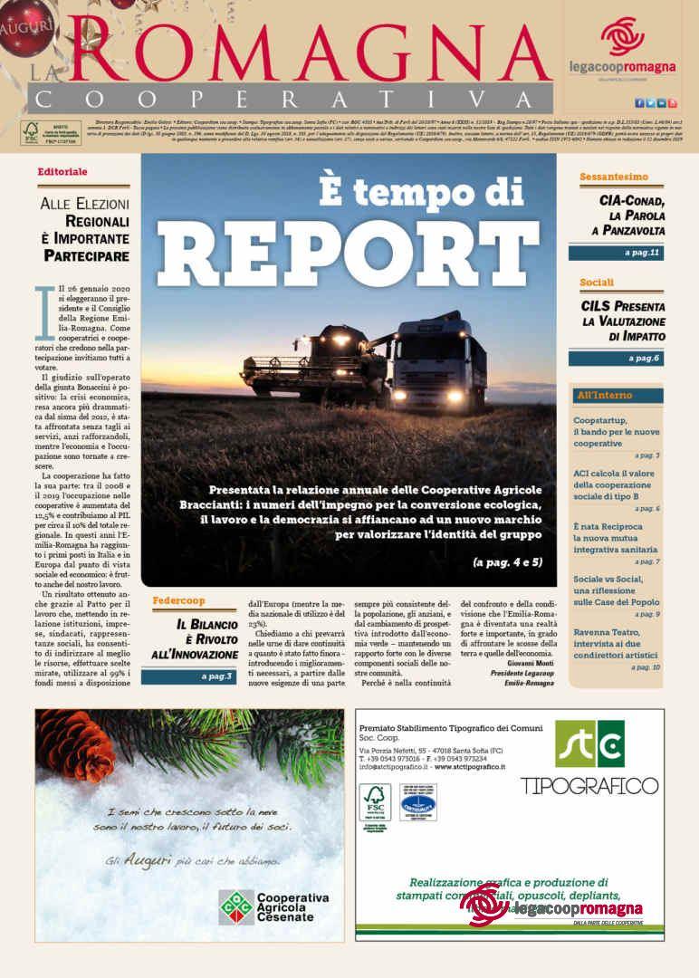 «È tempo di report», il nuovo numero della Romagna Cooperativa (12/2019)