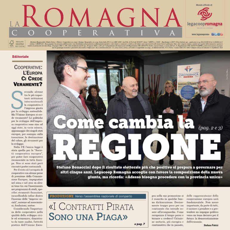 «Come cambia la Regione», il n.2/2020 della Romagna Cooperativa