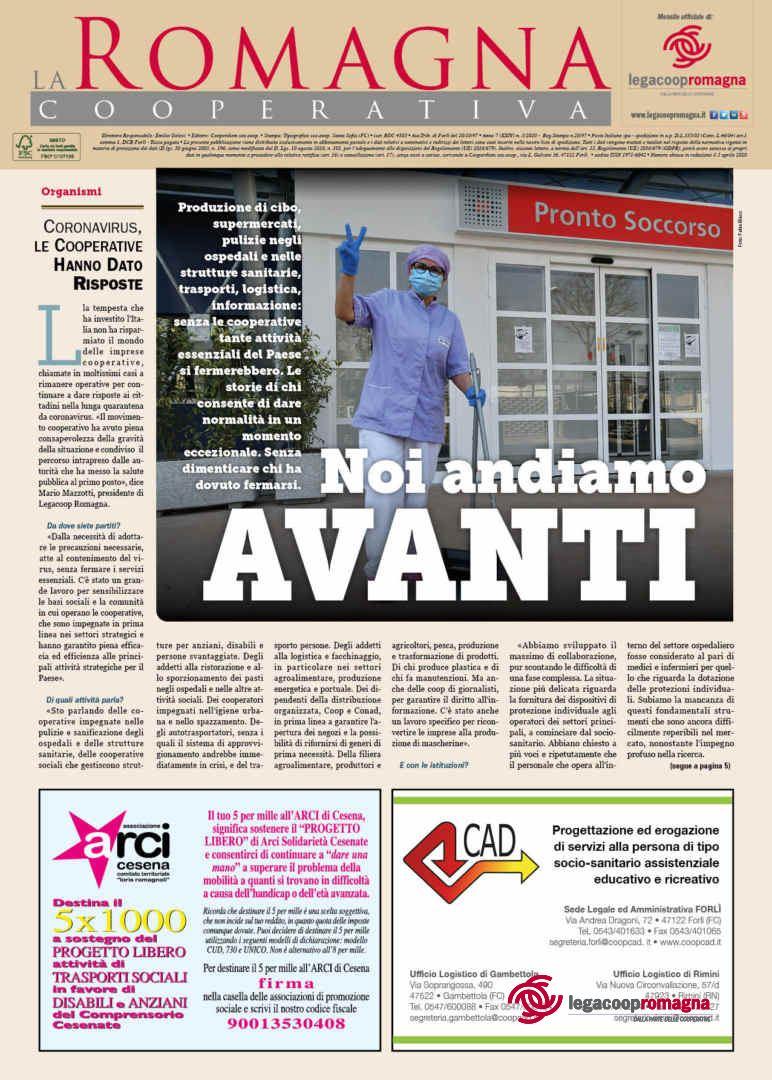 «Noi andiamo avanti» – la Romagna Cooperativa 3/2020 [pdf]