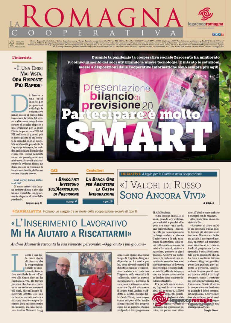 «Partecipare è molto Smart» – il n.5/2020 della Romagna Cooperativa