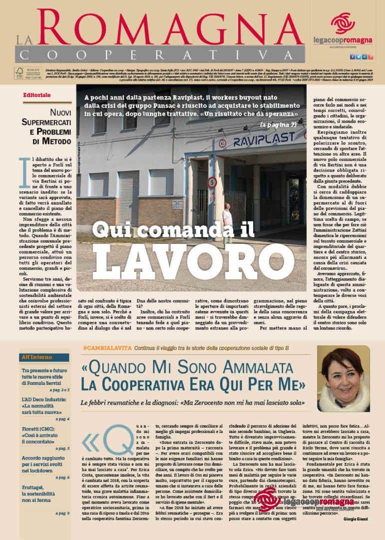 «Qui comanda il lavoro», il n.6/2020 della Romagna Cooperativa [PDF]