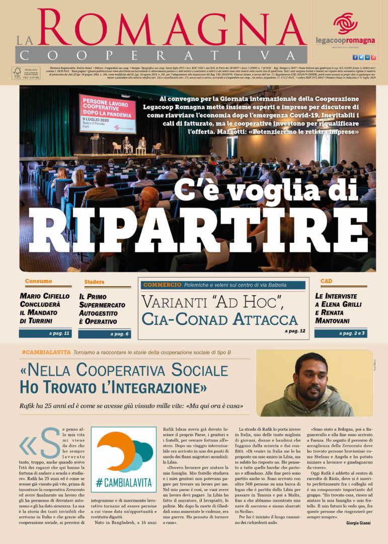 C'è voglia di ripartire – il nuovo numero della Romagna Cooperativa (7-8/2020)